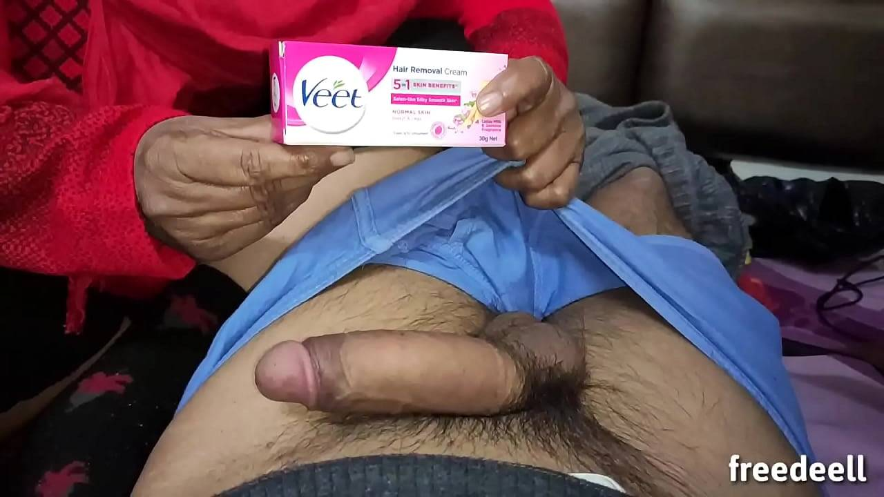 Aunty waxed my cock hair for nasty blowjob